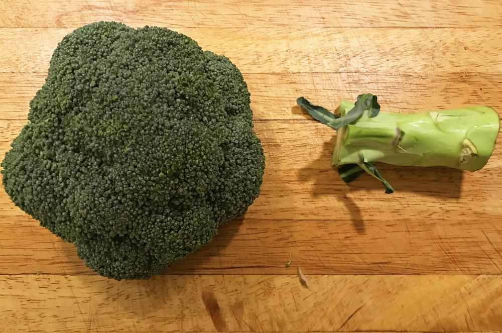 Broccoli stjälk
